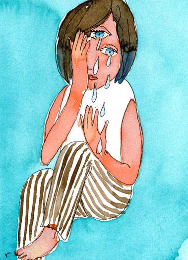 Girl and Tear